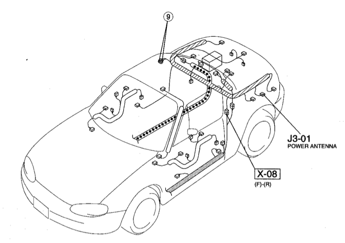nb remote wire tap in trunk mx 5 miata forum rh forum miata net 1992 Mazda Miata Engine Diagram Miata ECU Diagram